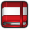 96x96px size png icon of Moleskine Red Book