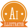 96x96px size png icon of a illustrator