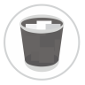 96x96px size png icon of Trash Full