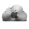 96x96px size png icon of Apple Silver
