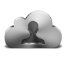 96x96px size png icon of Contacts Silver