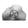 96x96px size png icon of Safari Silver