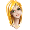 96x96px size png icon of browser girl chrome