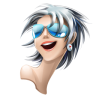 96x96px size png icon of browser girl safari