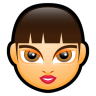 96x96px size png icon of Female Face FA 3
