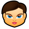 96x96px size png icon of Female Face FB 4