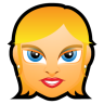 96x96px size png icon of Female Face FE 1 blonde