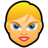96x96px size png icon of Female Face FE 2 blonde