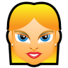 96x96px size png icon of Female Face FE 4 blonde