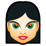 96x96px size png icon of Female Face FI 4