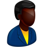 96x96px size png icon of African Boss