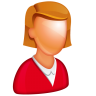 96x96px size png icon of Caucasian Female Boss