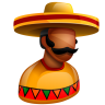 96x96px size png icon of Mexican Boss