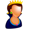 96x96px size png icon of Queen
