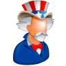 96x96px size png icon of Uncle Sam