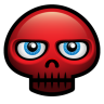 96x96px size png icon of red skull