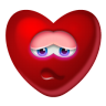 96x96px size png icon of Heart Shy