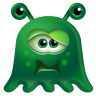 96x96px size png icon of Monster Sick