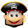 96x96px size png icon of Pirate Smile