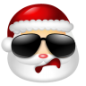 96x96px size png icon of Santa Claus Cool