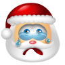 96x96px size png icon of Santa Claus Cry