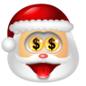 96x96px size png icon of Santa Claus Money