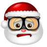 96x96px size png icon of Santa Claus Nerd