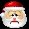 96x96px size png icon of Santa Claus Sad