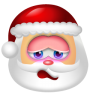 96x96px size png icon of Santa Claus Shy