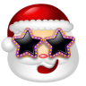 96x96px size png icon of Santa Claus Stars