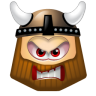 96x96px size png icon of Viking Angry