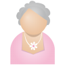 96x96px size png icon of grey woman