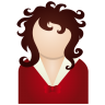 96x96px size png icon of red woman