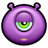 96x96px size png icon of Alien indifferent