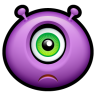 96x96px size png icon of Alien sad