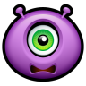 96x96px size png icon of Alien scared