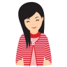 96x96px size png icon of girl chuckle