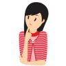 96x96px size png icon of girl confused