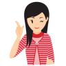 96x96px size png icon of girl idea