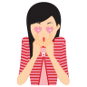 96x96px size png icon of girl in love