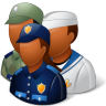 96x96px size png icon of Groups Military Personnel Dark