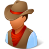 96x96px size png icon of Historical Cowboy