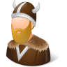96x96px size png icon of Historical Viking Male