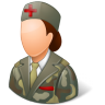 96x96px size png icon of Medical Army Nurse Female Light