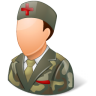 96x96px size png icon of Medical Army Nurse Male Light