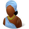 96x96px size png icon of Nations African Female