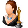 96x96px size png icon of Occupations Actor Female Light