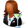 96x96px size png icon of Occupations Bartender Female Dark