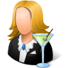 96x96px size png icon of Occupations Bartender Female Light