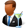 96x96px size png icon of Occupations Bartender Male Dark